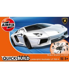 QUICKBUILD Lamborghini Aventador - White - Сглобка без лепило