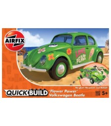 QUICKBUILD Flower-Power VW Beetle Green
