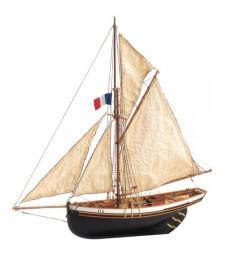 """1:50 Катер """"Приятен бриз"""" - Модел на кораб от дърво"""