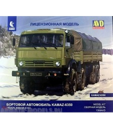 "KAMAZ-6350 ""Mustang"" Flatbed Truck - Die-cast Model Kit"