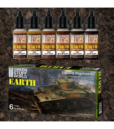 Liquid Pigments Paint Set - EARTH (Box x 6)