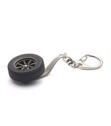 1/18 Keychain Wheel 8-Spokes (black)