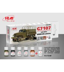 Комплект акрилни бои за G7107 (и дргуги американски превозни средства от Втората световна война) (6x12 ml)