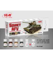 Комплект акрилни бои за Съветски AFV, Втора световна война (6x12 ml)