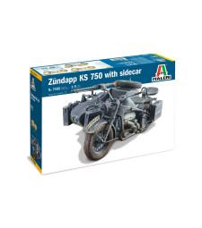 1:9 Германски мотоциклет ZUNDAPP KS 750 с кош
