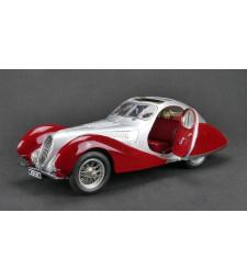 "CMC Talbot-Lago Coupé T150 C-SS Figoni & Falaschi ""Teardrop"", 1937-39 silver / red"