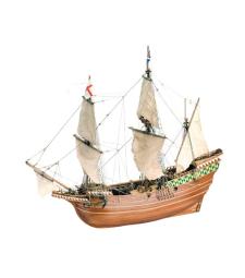 1:64 Мейфлауър, корабът на пилигримите (Mayflower Piligrim Ship) - Модел на кораб от дърво