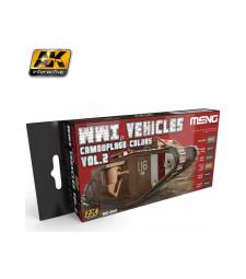 MC-805 WWI VEHICLES CAMOUFLAGE COLORS VOL.2 - Комплект акрилни бои серия MENG (6 x 17 ml)