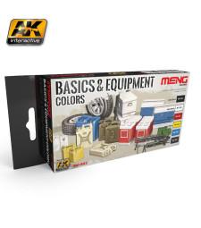 MC-803 BASICS & EQUIPMENT COLORS - Комплект акрилни бои серия MENG (6 x 17 ml)