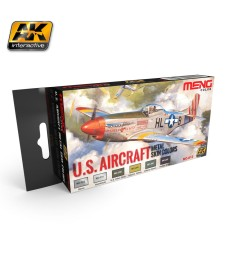 MC812 U.S. AIRCRAFT METAL SKIN COLORS - Комплект акрилни бои серия MENG (6 x 17 ml)