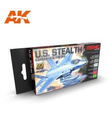MC815 U.S. STEALTH CAMOUFLAGE COLORS SET - Комплект акрилни бои серия MENG (6 x 17 ml)