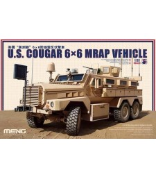 1:35 Aмерикански 6х6 брониран автомобил Кугър (U.S. Cougar 6x6 MRAP Vehicle)