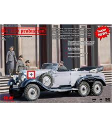1:35 Германски автомобил Mercedes-Benz G4 (продукция 1939 г. с 4 фигури)