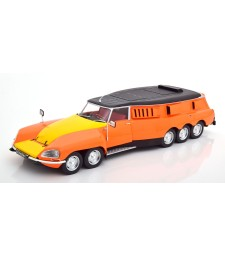 Citroen DS PLR Michelin Testcar Mille Pattes 1972 orange/yellow/black scale