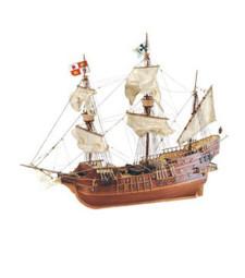 "1:30 ""Сан Хуан"", галеон, XV век - Модел на кораб от дърво"