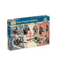 1:72 Втора световна война: Свободна френска пехота - 49 фигури