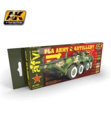 AK4240 PLA ARMY & ARTILLERY - Комплект акрилни бои (8 x 17 ml)