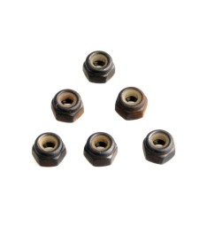 1:10 Nylon locknut M3 6 pcs for Car Buggy Truck