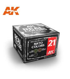 RCS021 NATO COLORS SET - Real colors (3 x 10ml) - Acrylic Lacquer Paints Set