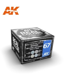 AKRCS067 MODERN HELLENIC AIR FORCE GHOST SCHEME - Real colors (4 x 10ml) - Комплект акрилни лакови бои за авиация