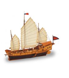 1:60 Червения дракон - Модел на кораб от дърво
