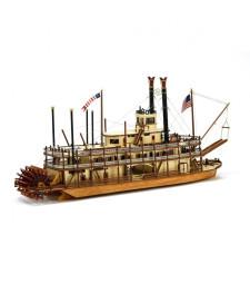 """1:80 """"Кралят на Мисисипи"""", обновен модел параход - Модел на кораб от дърво"""