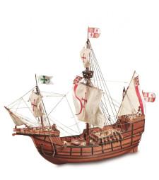 """1:65 Каравела """"Санта Мария"""" - Модел на кораб от дърво"""