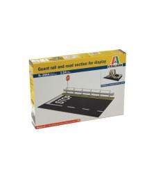 1:24 Пътен участък и бариера за излагане на модел на камион или автомобил (Guard Rail & Road Section for display)