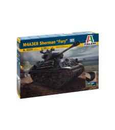 "1:35 Американски основен танк Шърман М4А3Е8 ""Фюри"", два вида вериги (M4A3E8 SHERMAN ""FURY"")"