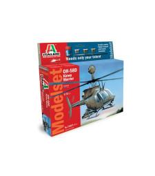 """1:72 Американски хеликоптер ОХ-58Д """"Войн киова"""" (OH-58D KIOWA WARRIOR) - MODEL SET"""