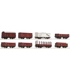 Комплект от 8 товарни вагона, DB, епоха III