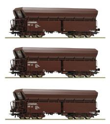 Комплект от 3 саморазтоварващи се вагона, ÖBB, епоха VI