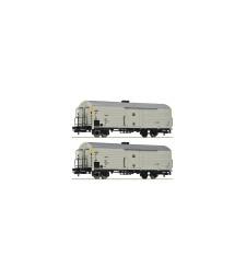 Комплект от 2 товарни вагона: хладивли вагони, DR, епоха IV