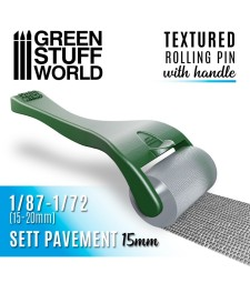 Rollin pin with Handle - Sett Pavement 15mm