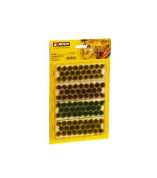 Туфи трева XL бежово-зелено, тъмно зелено, кафяво (104 броя, 9 mm)