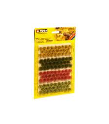 """Туфи трева XL """"цъфтеж"""" червено, жълто, светло и тъмно зелено (104 броя, 9 mm)"""