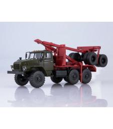 URAL-432024-10 logging truck /khaki-red/