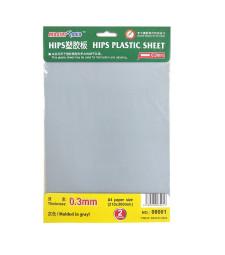 А4 пластмасов лист за моделизъм, дебелина 0,3 мм (HIPS 0,3MM PLASTIC SHEET)