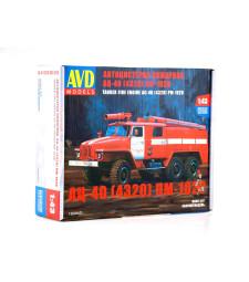 1:43 Fire engine AC-40(URAL-4320) PM-102B, Die-Cast Model Kit