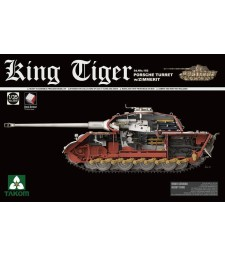 1:35 Германски тежъктанк Sonderkraftfahrzeug King Tiger 182 с купол Porsche с цимерит и интериор (WWII German Heavy Tank Sd.Kfz.182 King Tiger Porsche Turret w/Zimmerit and interior)