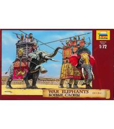 1:72 Бойни слонове III-I пр н.е. - 7 човешки фигури , 2 слона