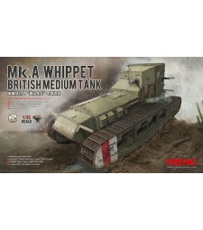 "1:35 Британски среден танк Марк А ""Уипет"" (BRITISH MEDIUM TANK Mk.A WHIPPET)"