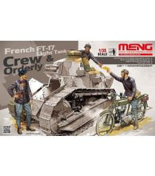 1:35 Френски екипаж на танк ФТ-17 и ординарец (FRENCH FT-17 LIGHT TANK CREW & ORDERLY)