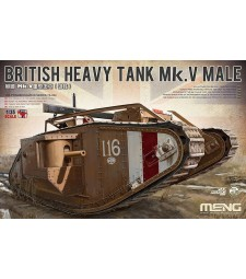 1:35 Британски тежък танк Марк V Мейл (BRITISH HEAVY TANK Mk.V MALE)