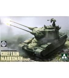 1:35 Британска система за зенитна отбрана Chieftain Marksman SPAAG (British Air-defense Weapon System Chieftain Marksman SPAAG)