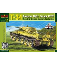 """1:35 Съветски среден танк Т-34, Красное Сормово фабрика 112, модел 1942 (Т-34 Russian Medium Tank, """"Krasnoye Sormovo"""" Plant No.112, Model 1942)"""