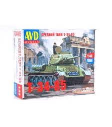 Tank T34-85 - Die-cast Model Kit