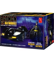 "1:25 Батмобилът от филма ""Батман"" (1989) с фигура от смола (Batman 1989 Batmobile with resin Batman figure)"