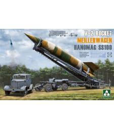 1:35 Германски транспортер за V-2 ракети Meillerwagenс влекач Hanomag SS100, Втора световна война (WWII German V-2 Rocket Transporter/Erector Meillerwagen+Hanomag SS100)
