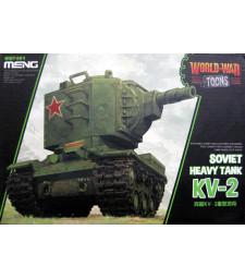 Съветски тежък танк КВ-2 (Soviet Heavy Tank KV-2, cartoon model) - сглобка без лепило